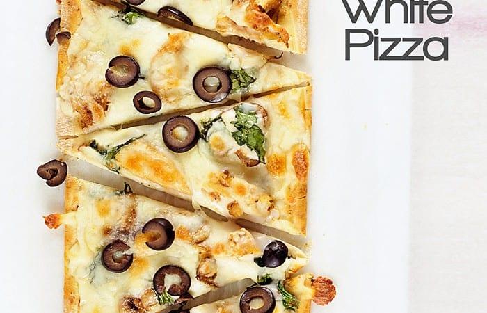 Chicken and Mushroom White Pizza