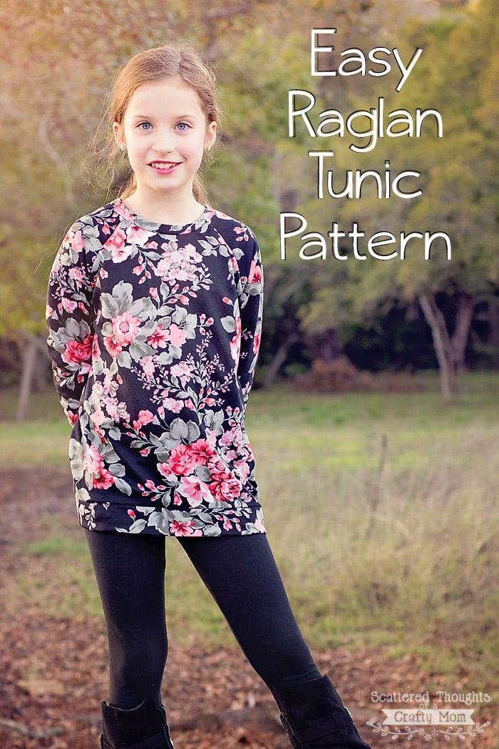 raglan tunic pattern