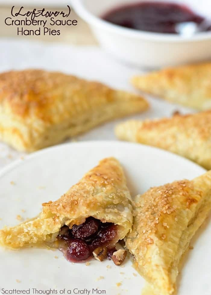 These Cranberry Hand Pies are a deliciously easy way to use up all that leftover Cranberry Sauce!