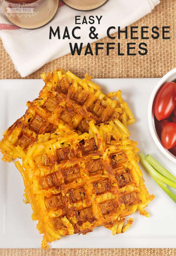 Mac and cheese cooked on a waffle iron- crispy on the outside and cheesy on the inside! What's not to love?