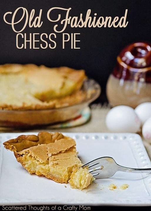 old fashioned chess pie recipe