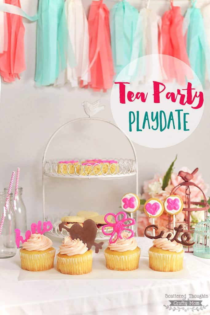 Tea Party Playdate Ideas (decorated with the Chocolate Pen)