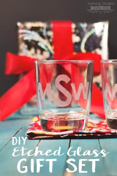 DIY Etched Glass Gift Set (Handmade Gifts for the Holidays)