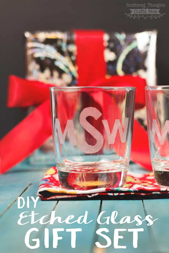 Christmas Gift Sets Diy.Diy Etched Glass Gift Set Handmade Gifts For The Holidays