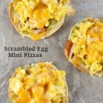 Scrambled Egg Mini Pizzas