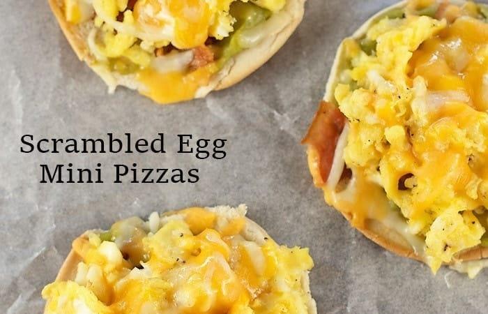 Scrambled Egg Mini Pizzas