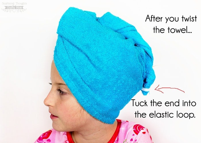 19ebac18238 DIY Stay in Place Turban Towel - Scattered Thoughts of a Crafty Mom ...