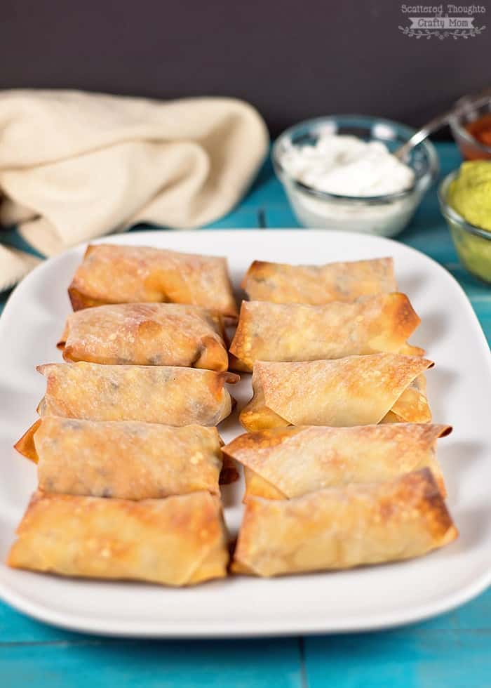 baked mexican eggrolls