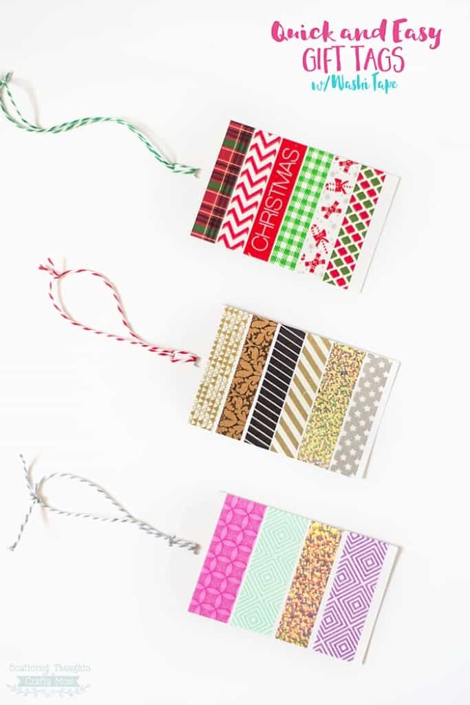 Quick and Easy Washi Tape Gift Tags- perfect for any occasion!