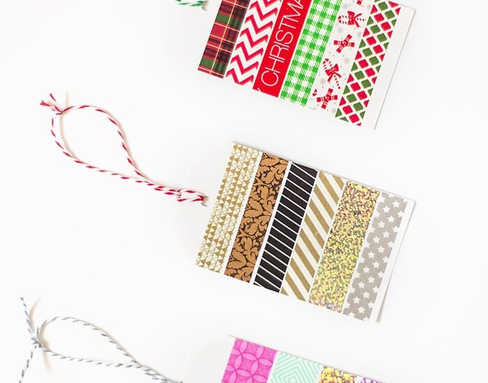 Quick and Easy Washi Tape Gift Tags