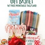 Coffee Lover Gift Basket Idea w/ free printable gift tag