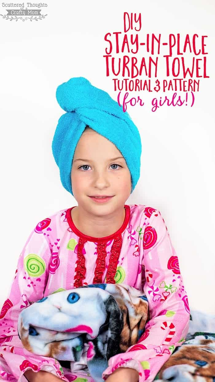How to make a Stay-in-Place DIY Turban Towel (with a free pattern)