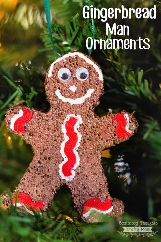 christmas ornament craft dress up your tree with these cute handmade gingerbread man ornaments