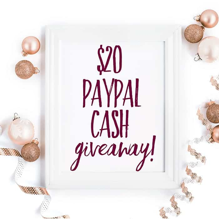 Holiday Cash Giveaway!  ($20 PayPal Cash!)