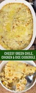 Green Chili Chicken and Rice Casserole