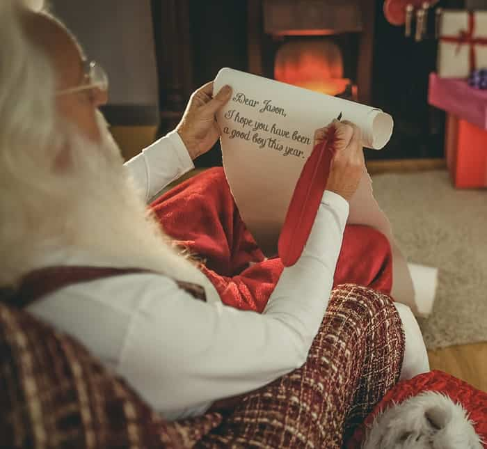Get a Free Personalized Letter from Santa!  Takes 2 Minutes and the letter plus a post mark for the envelope will be emailed to you for printing.
