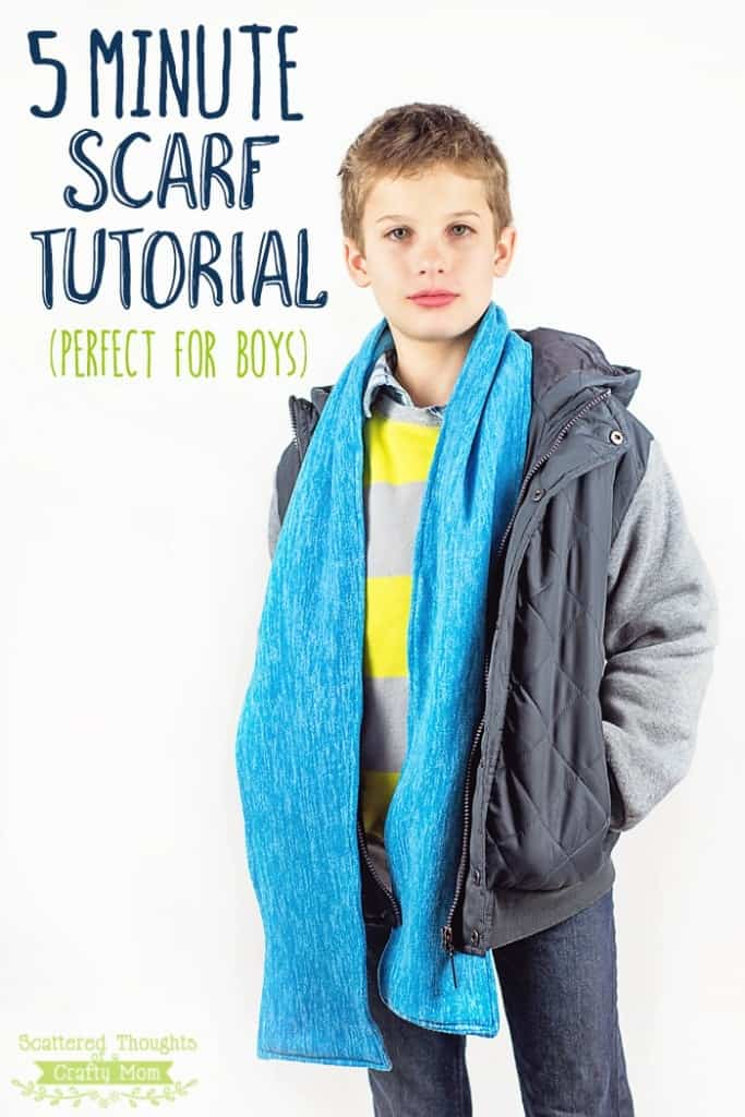 This 5 minute Scarf Tutorial is a great quick and easy sewing project. The scarf is perfect for both boys and girls!