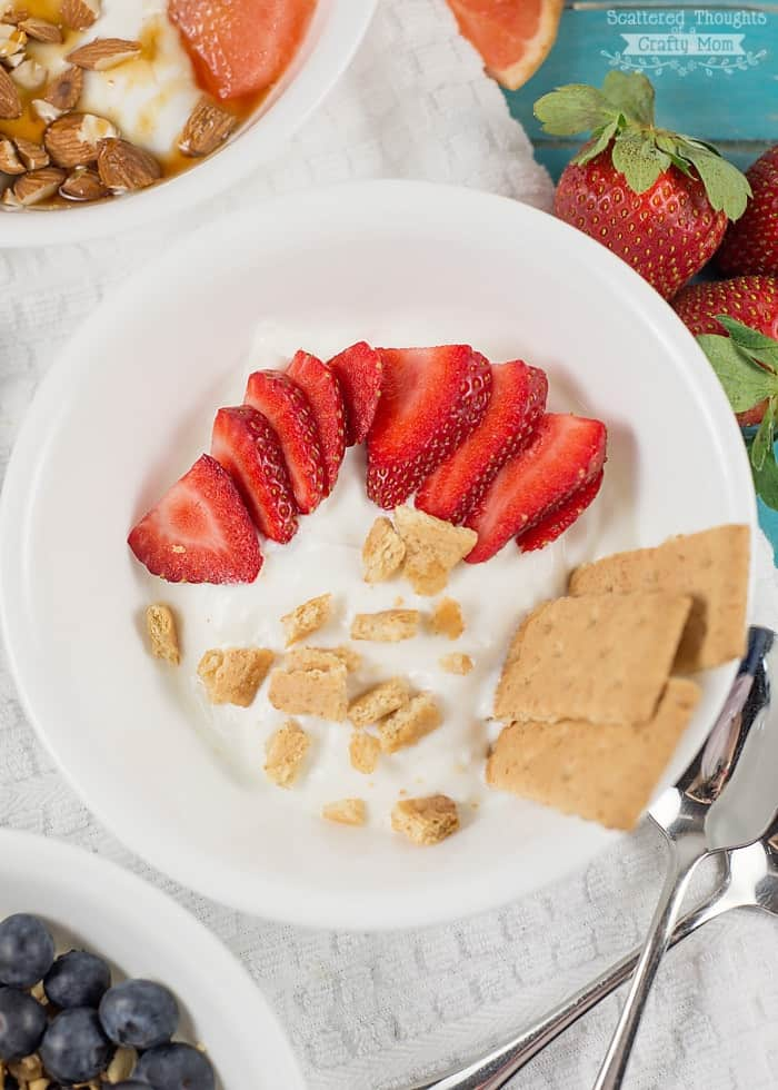 strawberry shortcake yogurt bowl