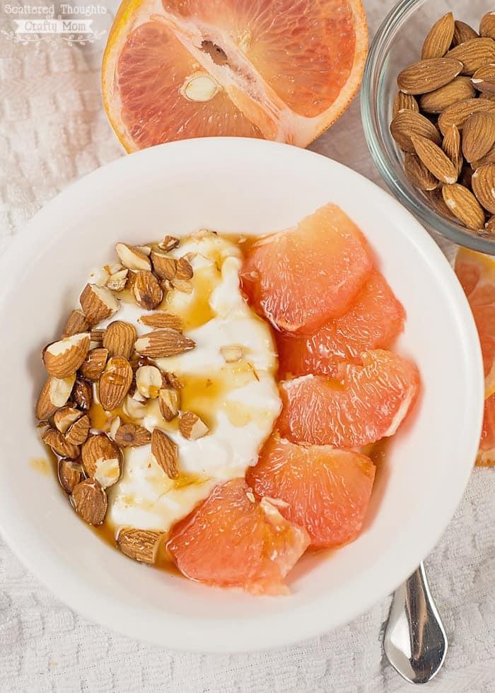 grapefruit and honey yogurt bowl