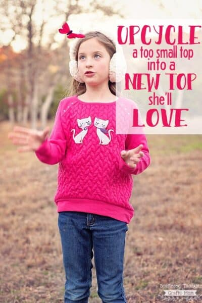 Upcycle a Favorite Too Small Shirt into Something They'll Love!