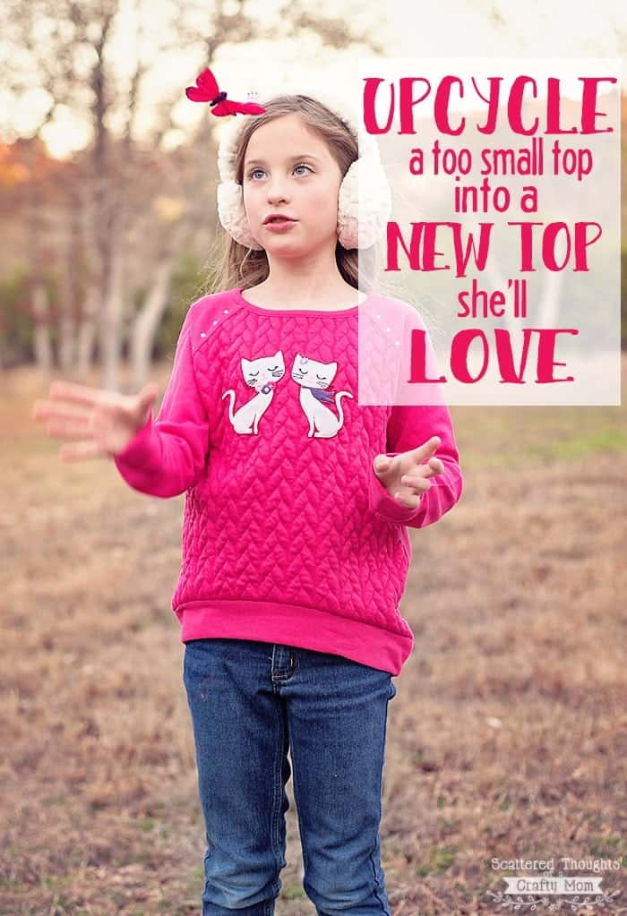 How to upcycle an outgrown shirt into a new top your little one will love!