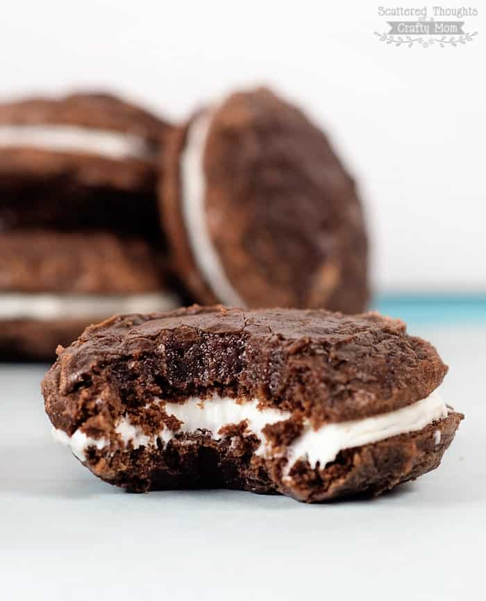 brownie mix sandwich cookies