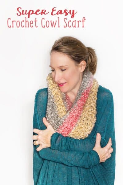 Warm and Snuggly Crochet Cowl Scarf