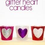 DIY Glitter Heart Candles