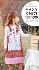 Free Knot Dress Pattern and tutorial (girls, size 2 to 10)