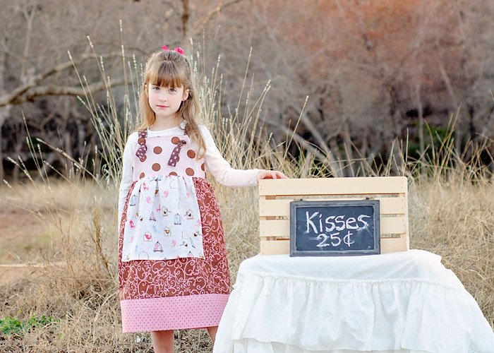 Free knot dress sewing pattern for girls