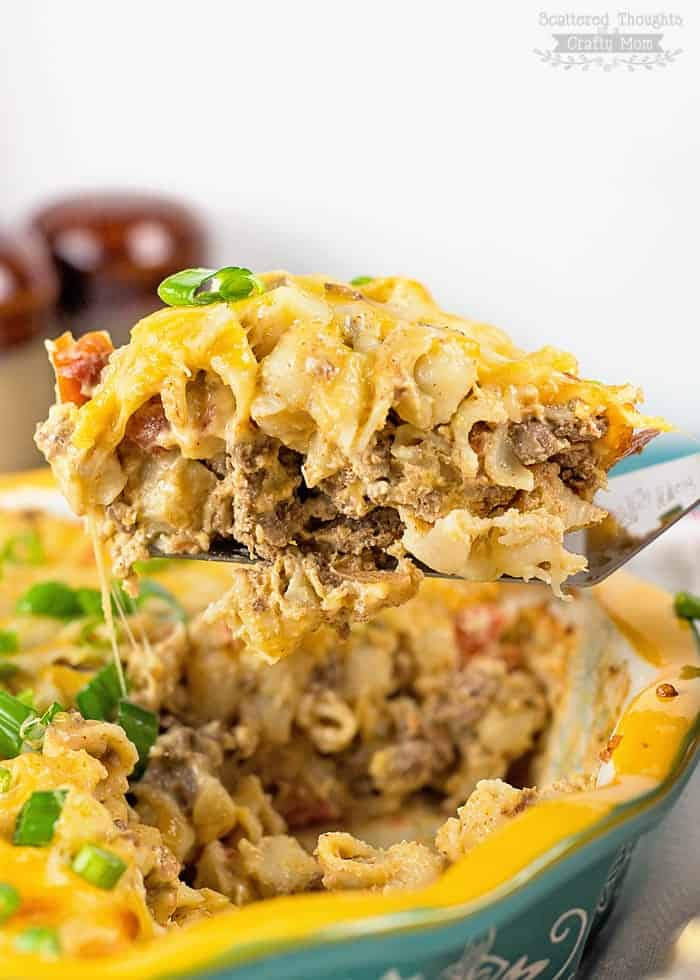Mac and Cheese Taco Casserole