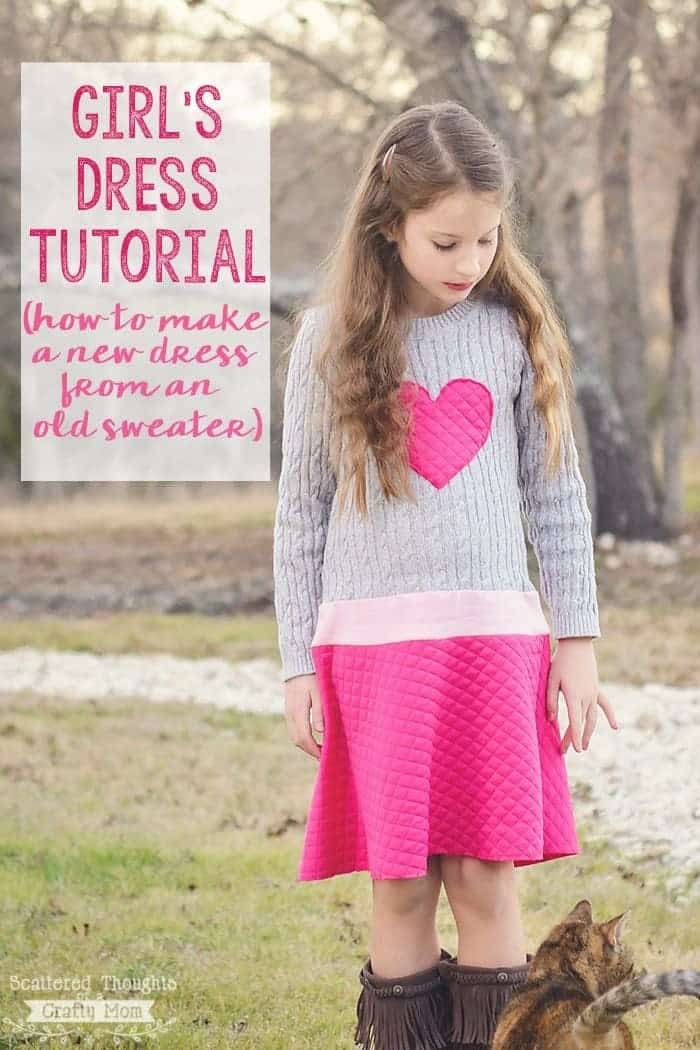 Girl's Sweater Dress Tutorial