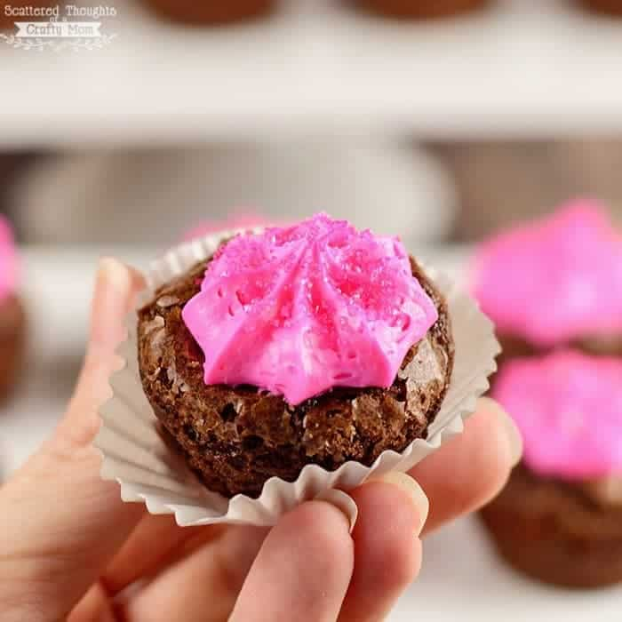 Pink Frosted Brownie Bites - Scattered Thoughts of a Crafty Mom by ...