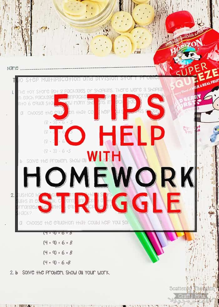 5 Tips to Help End Homework Struggle