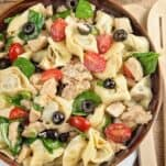 tortellini pasta salad w/ chicken
