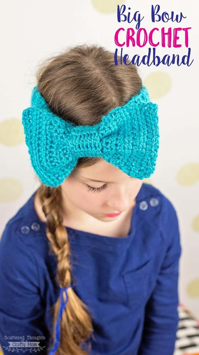 Get the instructions on how to Crochet this Big Bow Headband.
