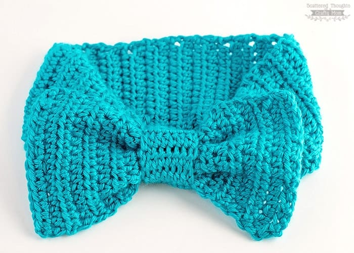 Crochet Patterns For Beginners Headband : Big Bow Crochet Headband - Scattered Thoughts of a Crafty ...