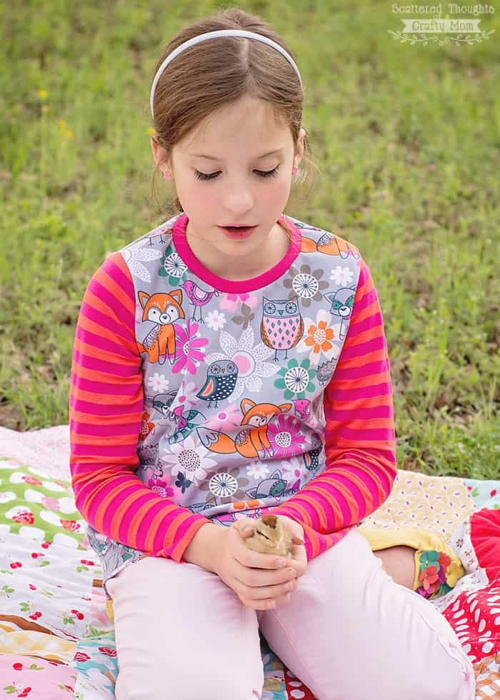 free t-shirt pattern for girls