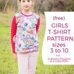 Free T-shirt Pattern for Girls (sz 3 to 12)