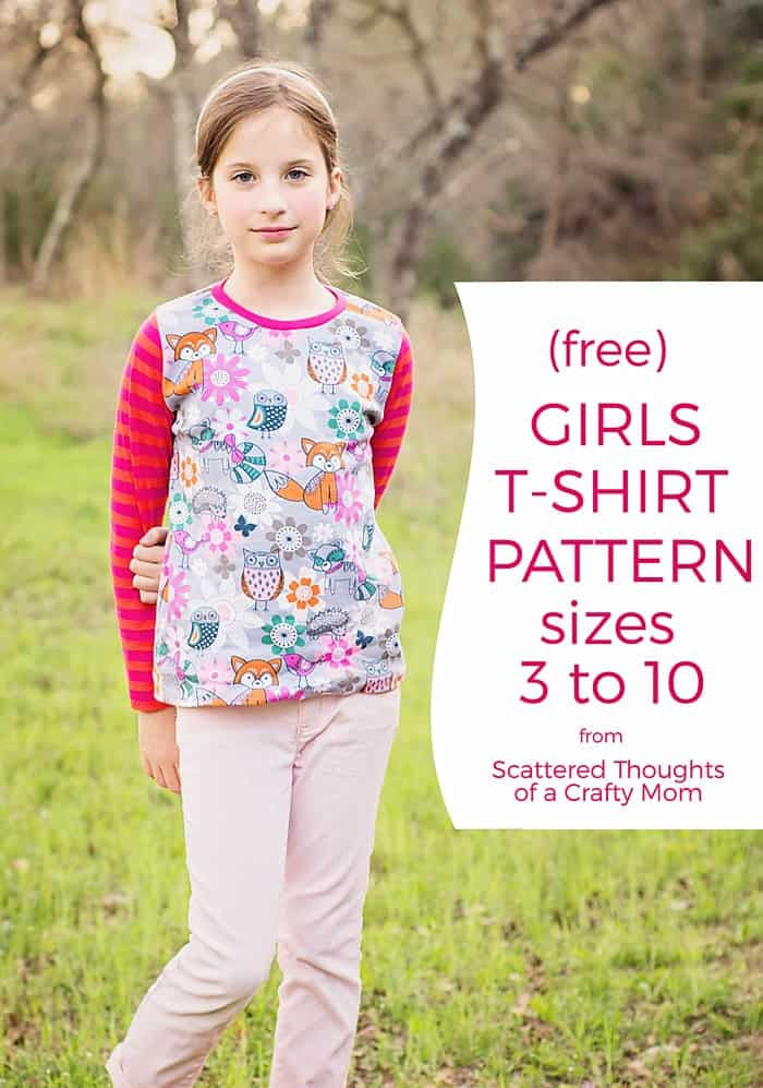 Free T-shirt Pattern for Girls (sz 3 to 14) - Scattered Thoughts of ...