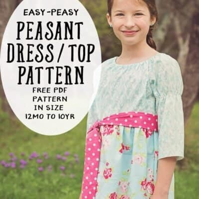 Peasant Dress Pattern Update- now in size 10