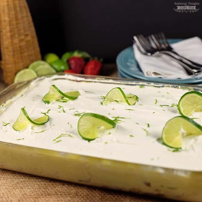 Super easy dessert recipe: Key Lime Poke Cake!