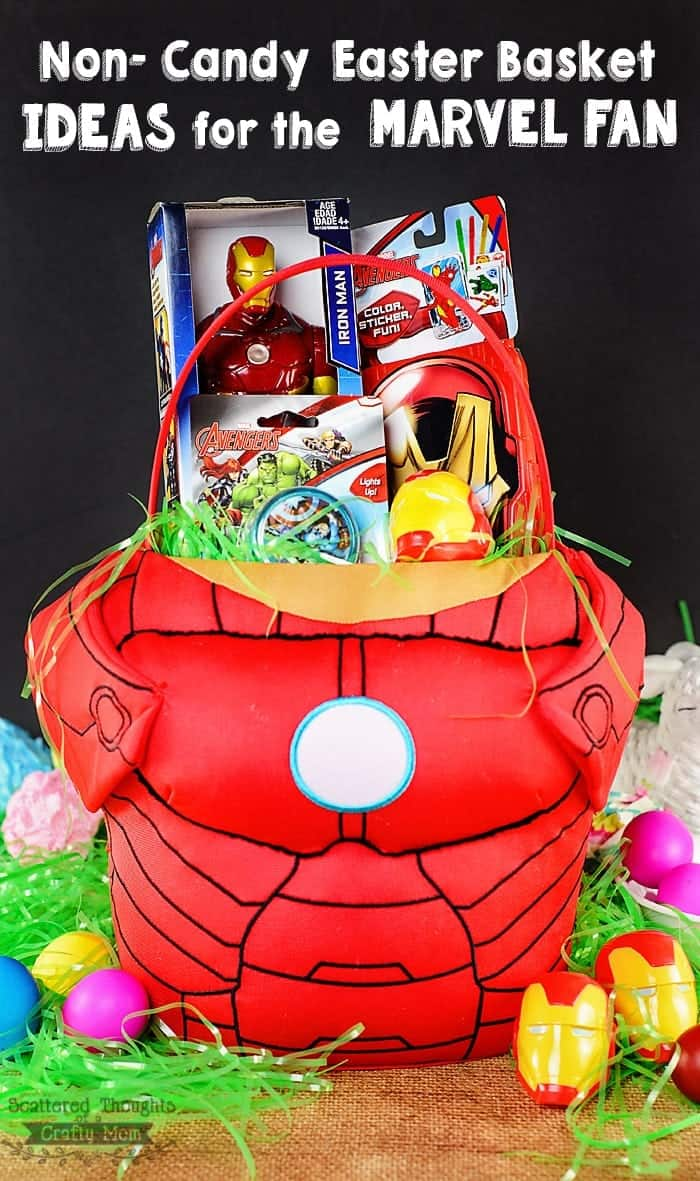 Non candy easter basket ideas for your avengers fan scattered non candy easter basket ideas for boys negle