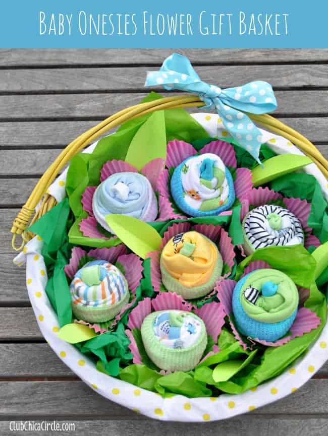 Baby-Onesies-Flower-Basket-Gift