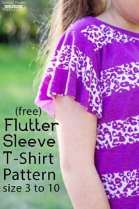 Free Flutter Sleeve Sewing Pattern (sz 3 to 10)