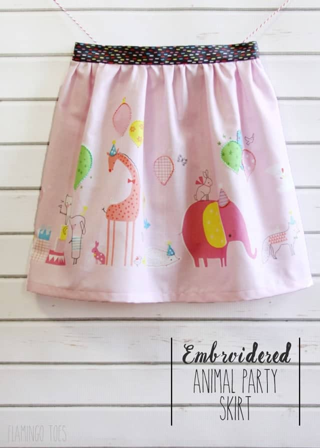 Embroidered-Animal-Party-Skirt