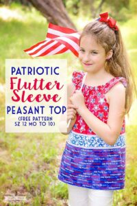 How to sew a flutter sleeve peasant top.