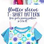 Flutter Sleeve T-Shirt Sewing Pattern