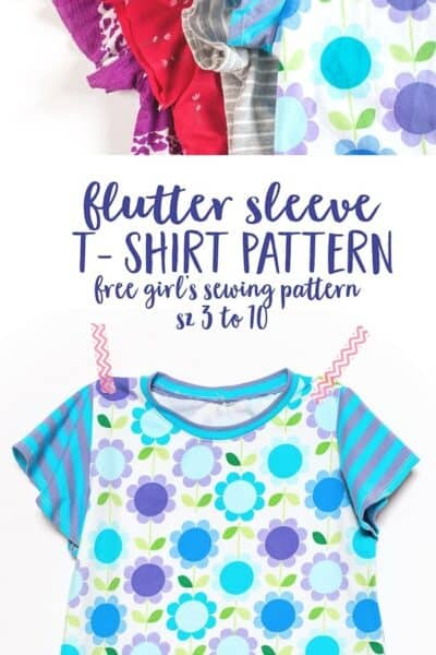 Flutter Sleeve T-Shirt Sewing Pattern