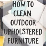 How To Clean Outdoor Upholstered Furniture